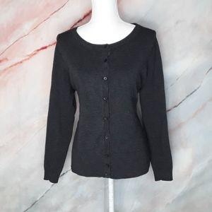 LANE BRYANT Grey Button Cardigan Sweater